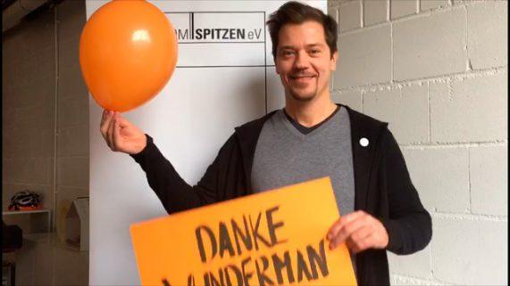 """Der Domspitzen eV dankt """"Wunderman"""" in einem Video-Beitrag für die Spende über 500 Euro"""